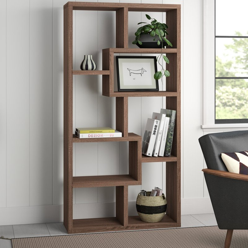 Current Skaggs Geometric Bookcases Pertaining To Skaggs Geometric Bookcase (View 3 of 20)