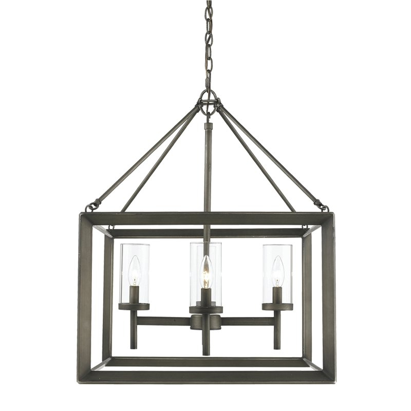 Current Thorne 4 Light Lantern Rectangle Pendant Regarding Thorne 6 Light Lantern Square / Rectangle Pendants (Gallery 23 of 30)