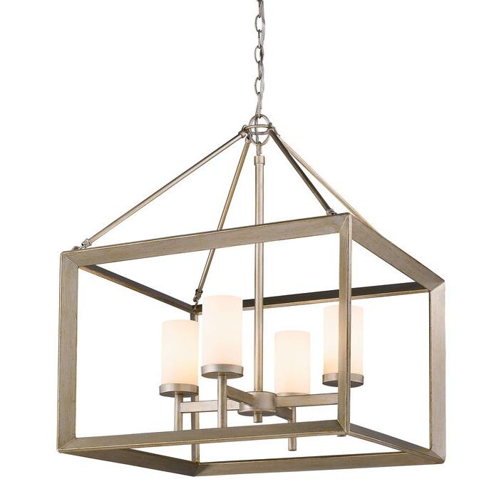 Current Thorne 4 Light Lantern Rectangle Pendants Within Thorne 4 Light Lantern Rectangle Pendant (Gallery 3 of 30)