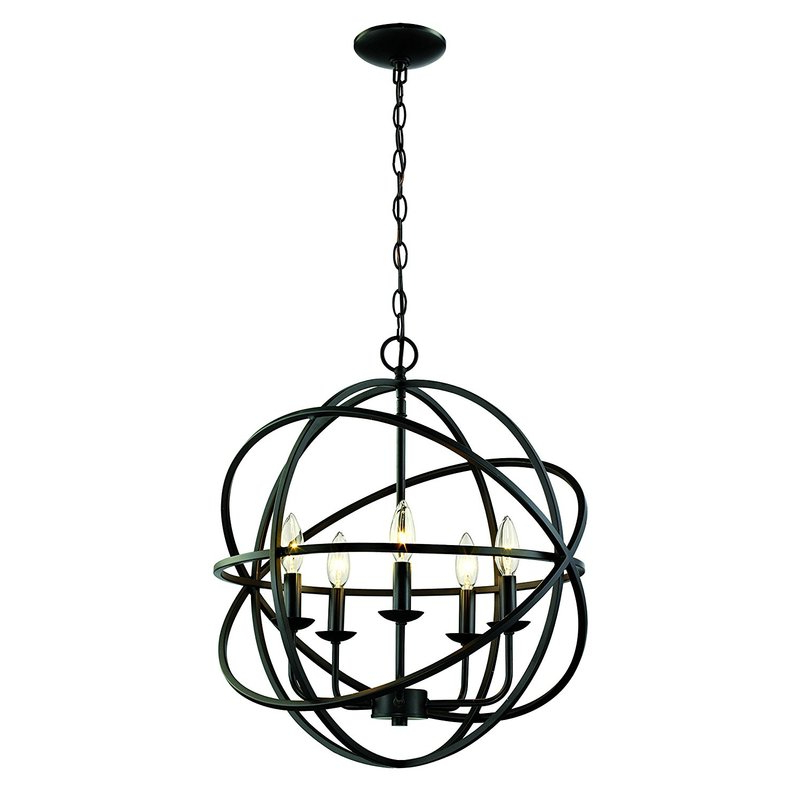 Current Waldron 5 Light Globe Chandeliers Inside Hankinson 5 Light Globe Chandelier (View 5 of 30)