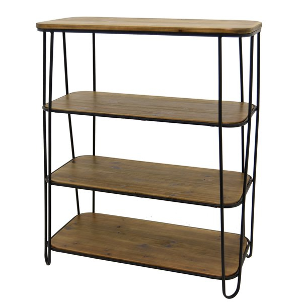 Cydnee Metal And Wood 3 Tier Etagere Bookcasebrayden Intended For 2019 Whidden Etagere Bookcases (View 7 of 20)