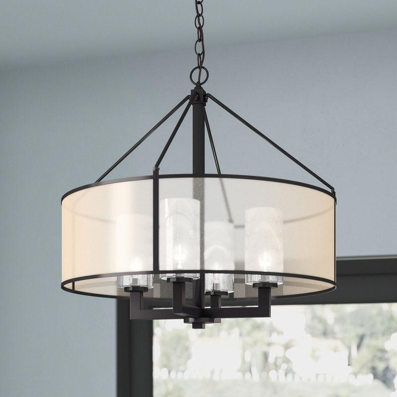 Dailey 4 Light Drum Chandelier #holiday (Gallery 16 of 30)