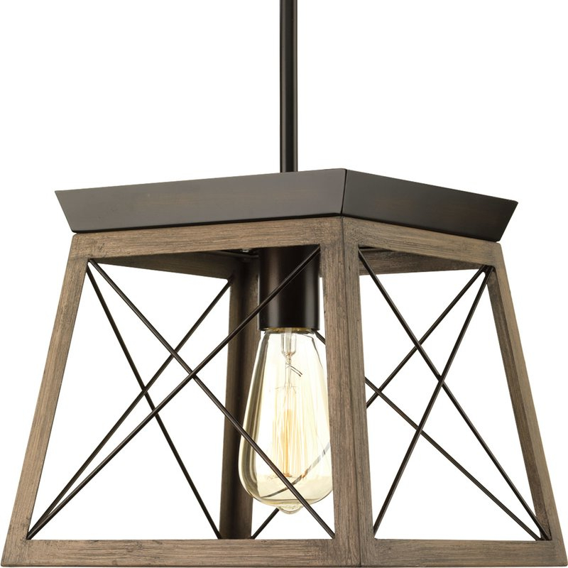 Delon 1 Light Lantern Geometric Pendant In Popular Louanne 1 Light Lantern Geometric Pendants (View 6 of 30)