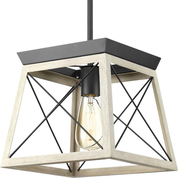 Delon 1 Light Lantern Geometric Pendant With Regard To Well Known Delon 1 Light Lantern Geometric Pendants (View 6 of 30)