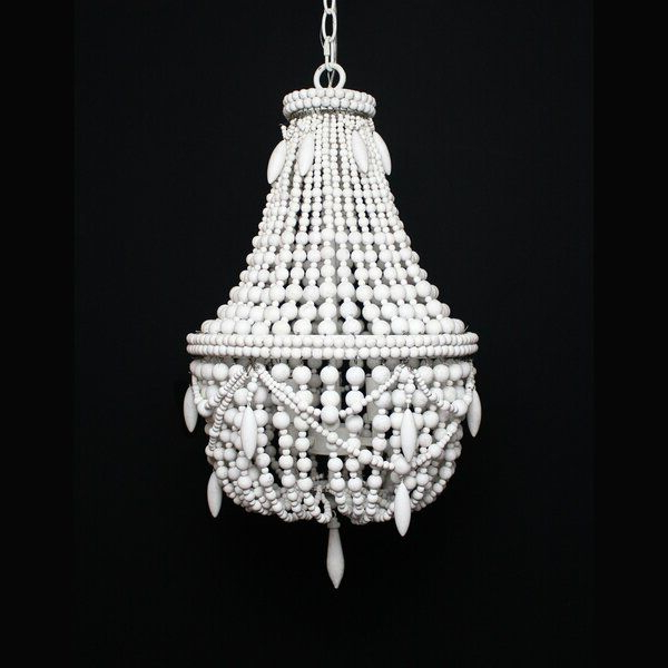 Demontfort Beaded 3 Light Empire Chandelier Intended For Widely Used Nehemiah 3 Light Empire Chandeliers (View 26 of 30)