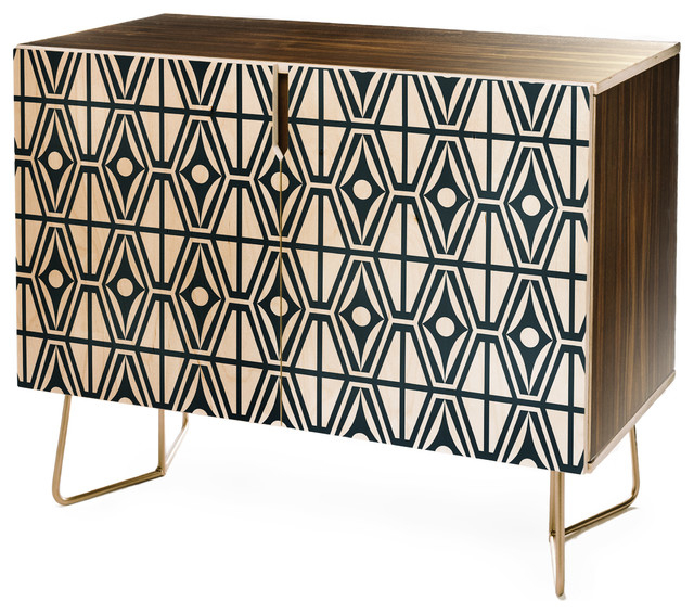 Deny Designs Heather Dutton Metro Steel Credenza Intended For Latest Metro Sideboards (View 15 of 20)