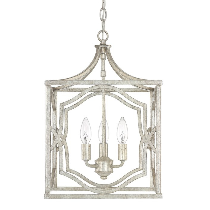 Destrey 3 Light Lantern Square/rectangle Pendant In 2020 Freeburg 4 Light Lantern Square / Rectangle Pendants (View 6 of 30)