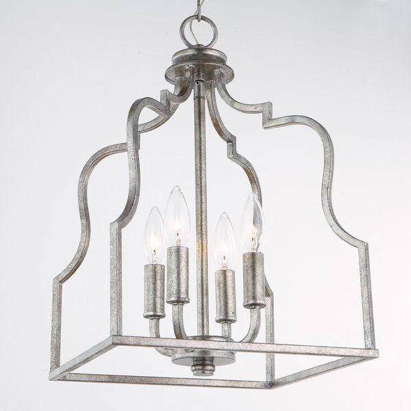 Destrey 3 Light Lantern Square/rectangle Pendants Within Famous Desloge 4 Light Lantern Pendant In (View 20 of 30)