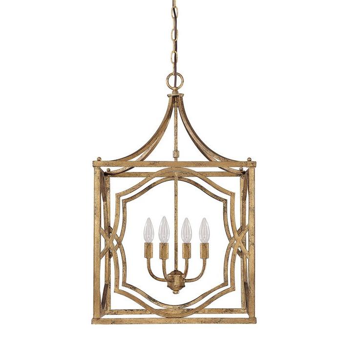 Destrey 4 Light Lantern Square / Rectangle Pendant With Regard To Most Popular Taya 4 Light Lantern Square Pendants (View 5 of 30)