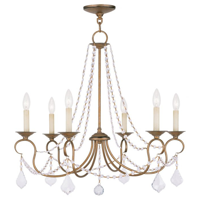 Devana 6 Light Candle Style Chandelier Inside Latest Bouchette Traditional 6 Light Candle Style Chandeliers (View 18 of 30)