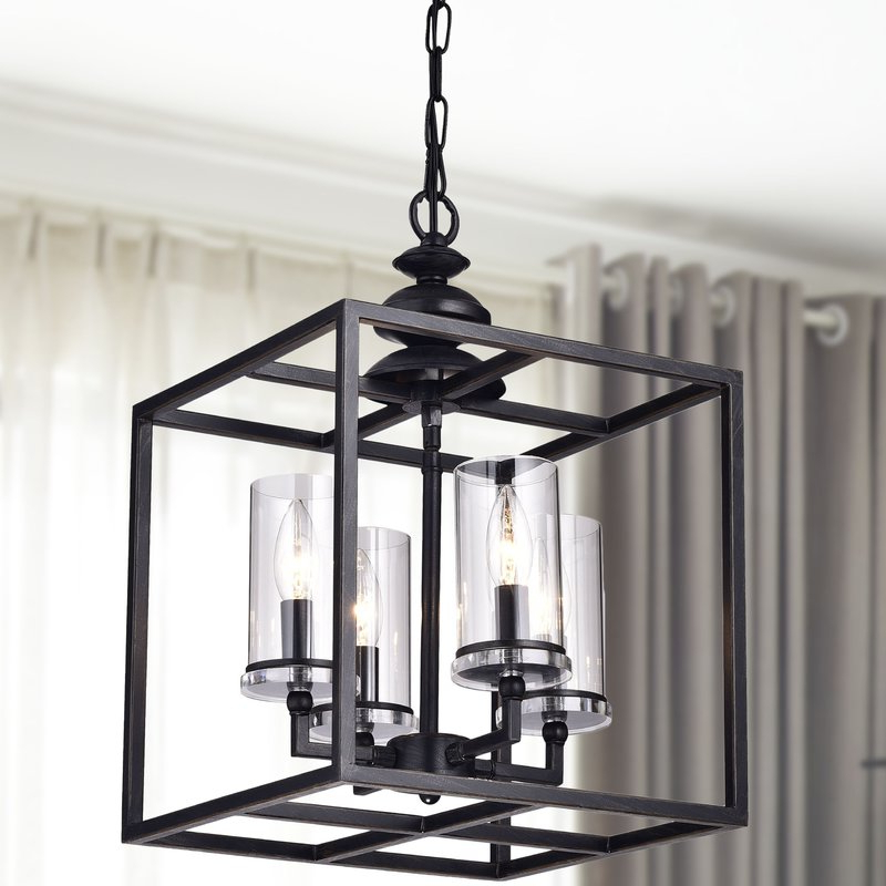 Didmarton 4 Light Square/rectangle Chandelier Within Favorite Ellenton 4 Light Rectangle Chandeliers (View 3 of 30)