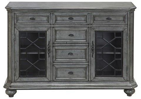Dillen Sideboards Inside Most Popular Kino Traditional Storage Cabinet – Grey – Christopher Knight (View 14 of 20)