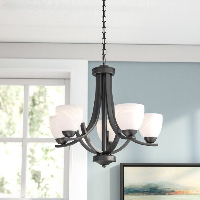 Dining Room Ideas Within Crofoot 5 Light Shaded Chandeliers (View 4 of 30)