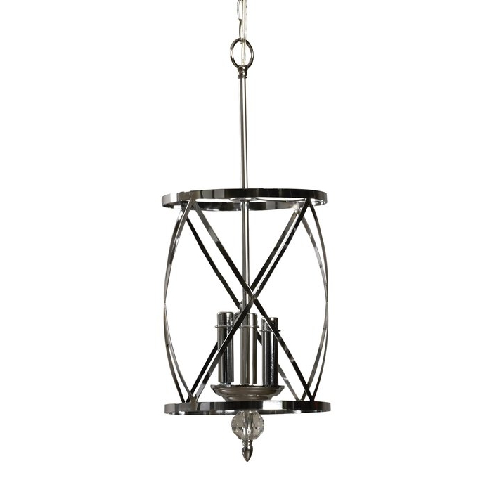 Dirksen 3 Light Single Cylinder Chandelier Regarding Favorite Dirksen 3 Light Single Cylinder Chandeliers (Gallery 3 of 30)