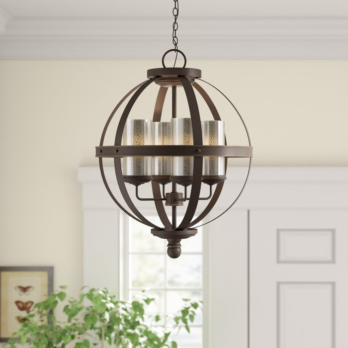Donna 4 Light Globe Chandelier Pertaining To Well Known Donna 4 Light Globe Chandeliers (View 2 of 30)