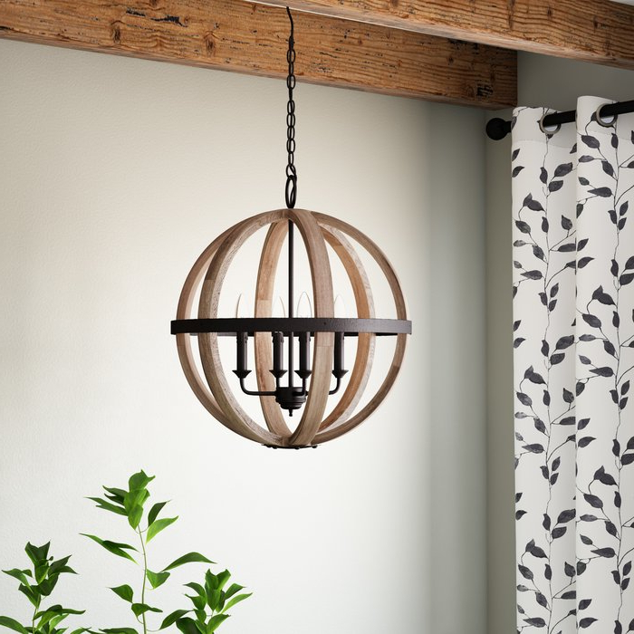 Donna 4 Light Globe Chandeliers Intended For Most Up To Date Caley 4 Light Globe Chandelier (Gallery 21 of 30)