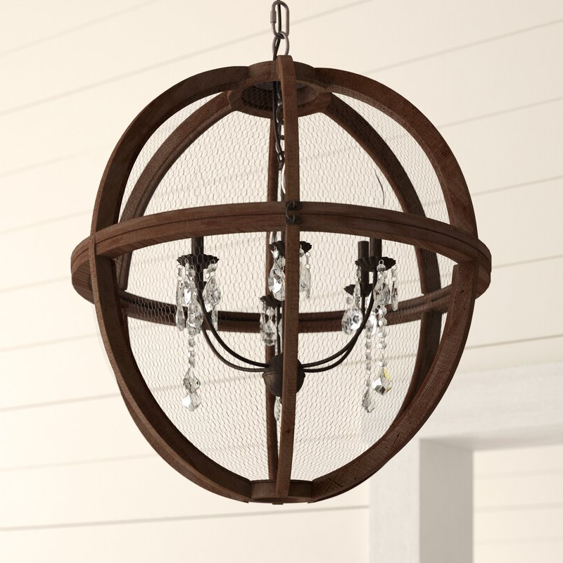 Donna 6 Light Globe Chandeliers Pertaining To Favorite Filipe Globe Chandelier (View 30 of 30)