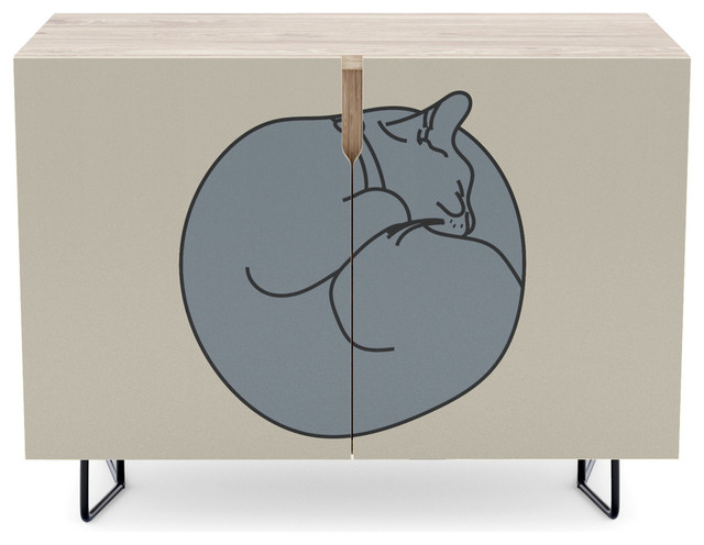 "Dormer Sideboards Inside Well Known Society6 Credenza, 30"", Sleeping Cat 2bitart (View 20 of 20)"