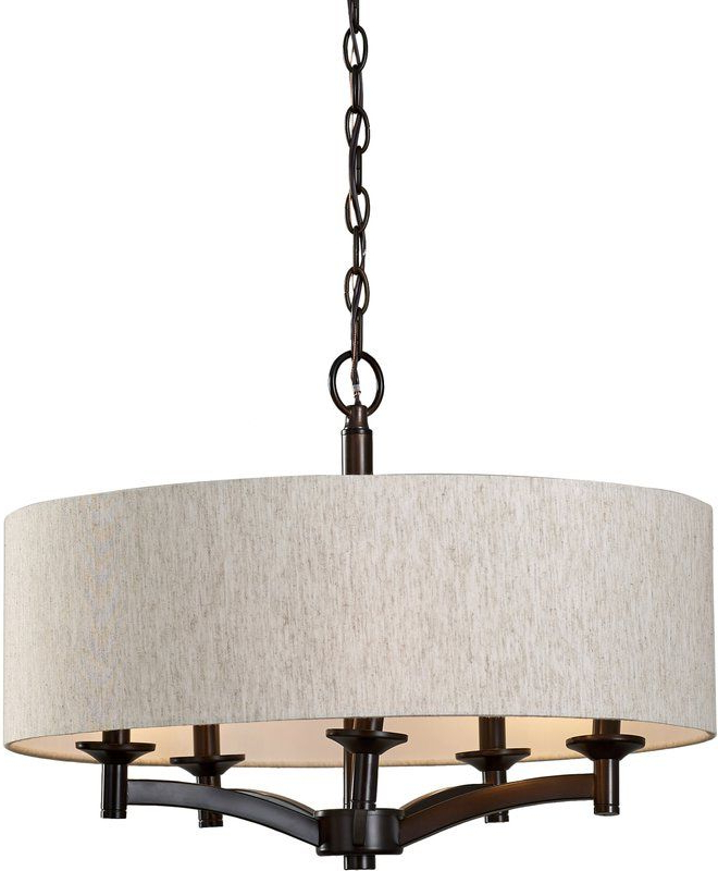 Drum Chandelier Intended For Best And Newest Harlan 5 Light Drum Chandeliers (View 8 of 30)