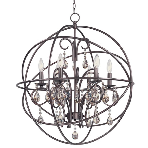 Eastbourne 6 Light Unique / Statement Chandeliers For Fashionable Alden 6 Light Globe Chandelier (View 13 of 30)