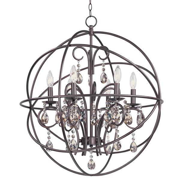 Eastbourne 6 Light Unique / Statement Chandeliers For Fashionable Alden 6 Light Globe Chandelier (View 8 of 30)