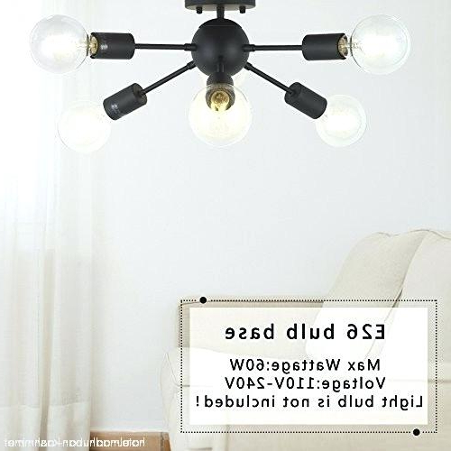 Eladia 6 Light Sputnik Chandeliers Pertaining To Latest Light Bulbs For Sputnik Chandelier – 7Artisans (View 7 of 30)