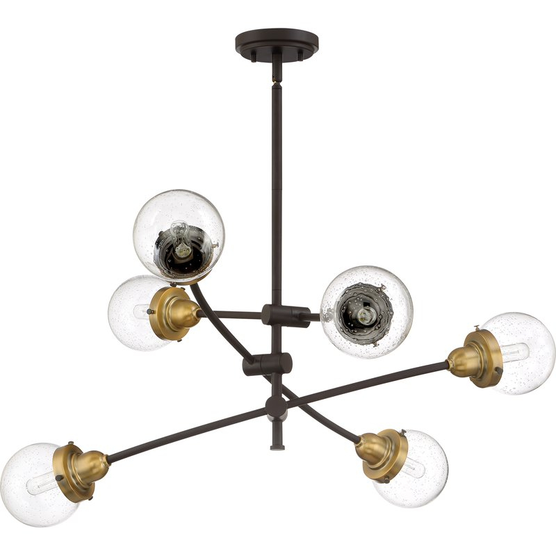 Eladia 6 Light Sputnik Chandeliers With Widely Used Brucie 6 Light Chandelier (View 29 of 30)