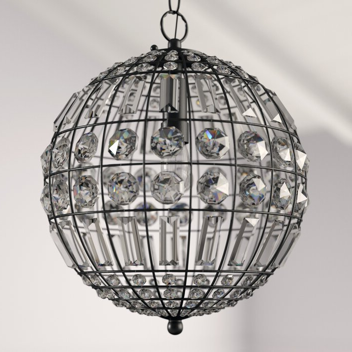 Elivra 1 Light Single Globe Pendant For 2019 Alden 3 Light Single Globe Pendants (Gallery 18 of 30)