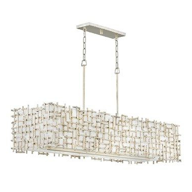 Ellenton 4 Light Rectangle Chandeliers For 2020 Hinkley Fr33105Slf Farrah Eight Light Linear Chandelier In (Gallery 16 of 30)