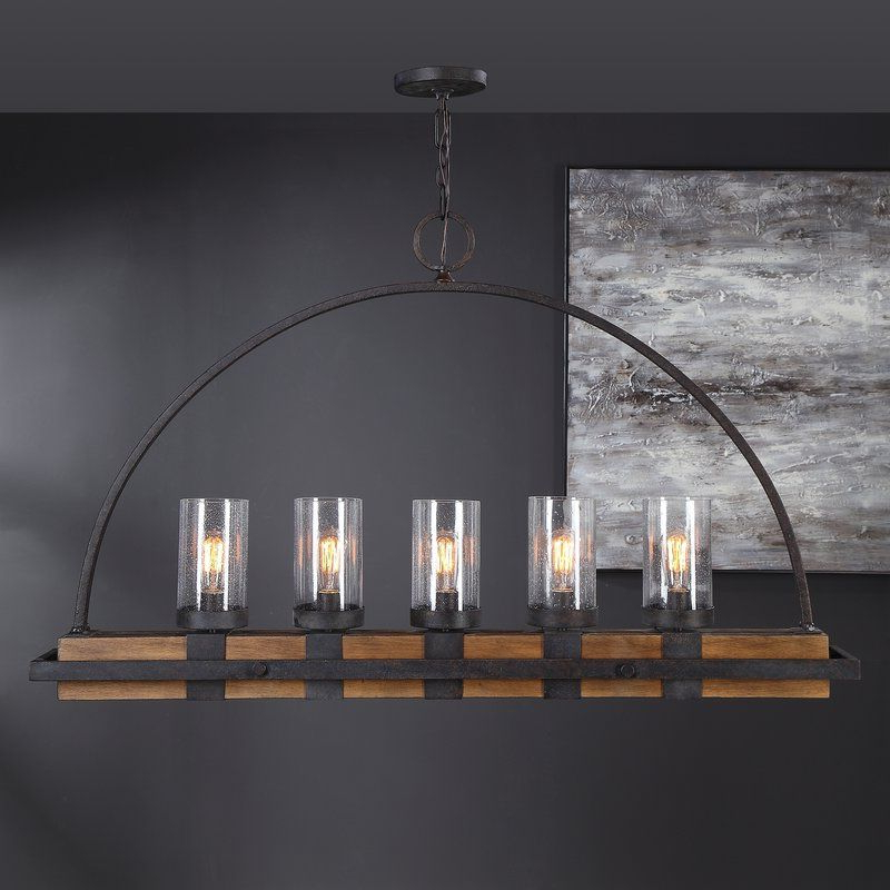 Ellenton 4 Light Rectangle Chandeliers Intended For Most Recently Released Stoltzfus Linear 5 Light Rectangle Chandelier In 2019 (Gallery 24 of 30)