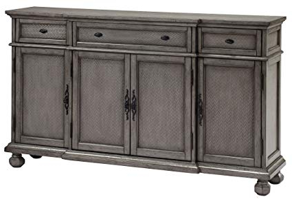 Elyza Credenzas For Famous Amazon – Coast To Coast 67450 Three Drawer Four Door (View 17 of 20)