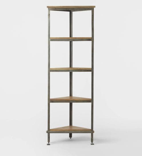 Emerson Corner Unit Bookcases For 2019 Emerson Corner Display Cum Bookshelf In Browntwigs Direct (View 5 of 20)
