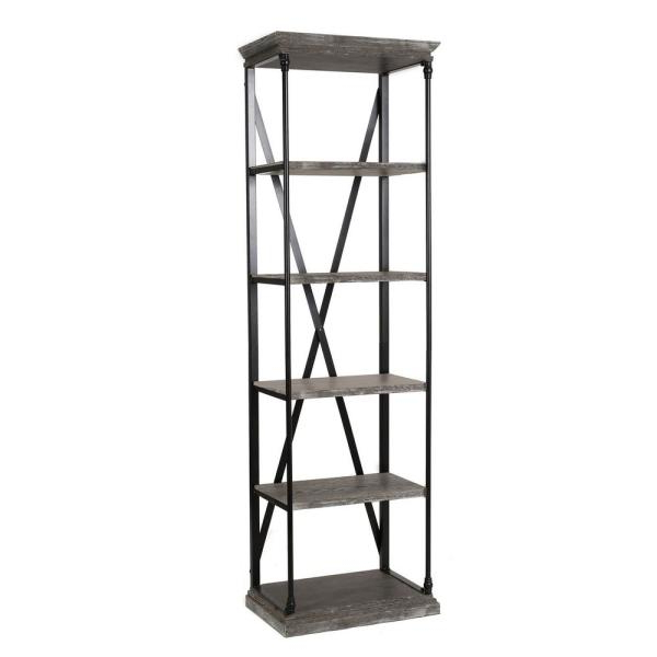 Etagere Bookcases Intended For Preferred Oak Gray 5 Tier Etagere Bookcase (View 16 of 20)