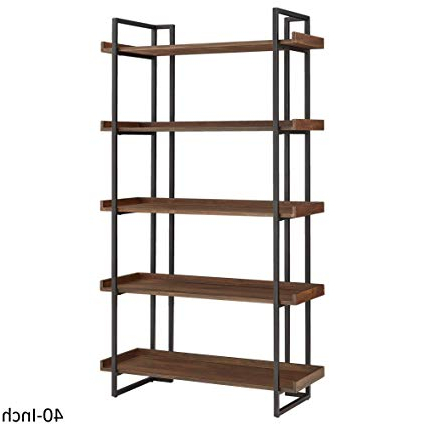 Etagere Bookcases Within Famous Amazon: Inspire Q Corey Rustic Brown Etagere Bookcases (View 2 of 20)