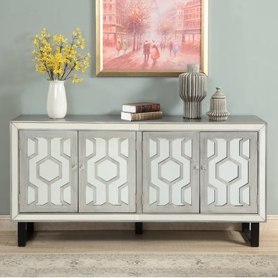 Everly Quinn Dabria Media Credenza In  (View 5 of 20)