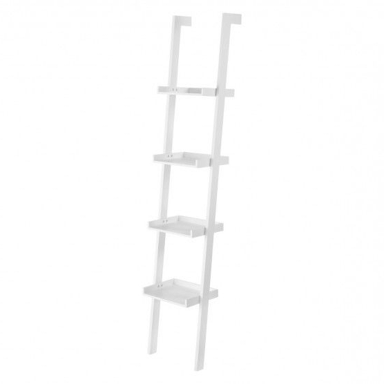 Ex Display Habitat Jessie 120846 Narrow Leaning Bookcase Shelf Furniture White Intended For Well Known Narrow Ladder Bookcases (View 7 of 20)