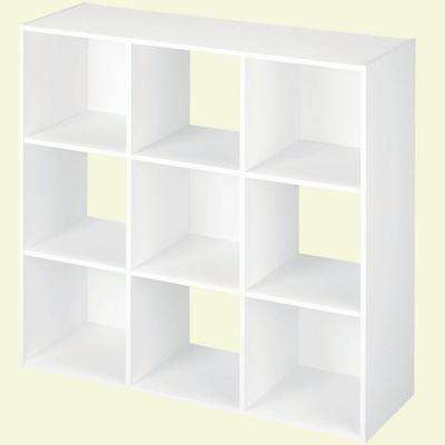 Famous 36 In. W X 36 In. H White Stackable 9 Cube Organizer In Cubicals Cube Bookcases (Gallery 16 of 20)