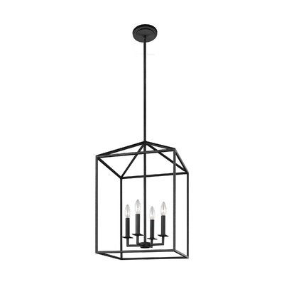 Famous 4 Light Lantern Square / Rectangle Pendants With Regard To Odie 4 Light Lantern Square/rectangle Pendant (Gallery 12 of 30)