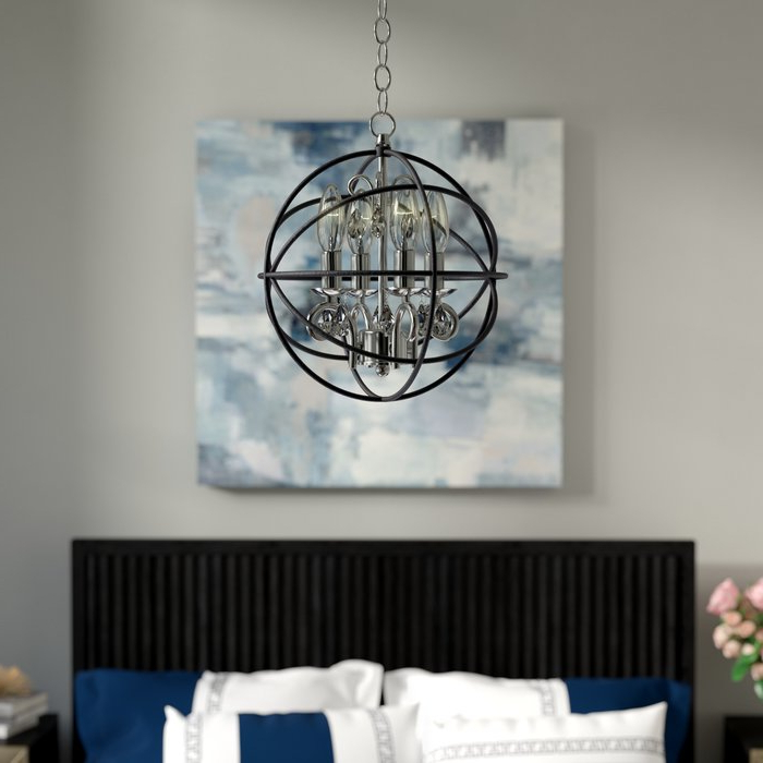 Famous Alden 3 Light Single Globe Pendants Throughout Alden 3 Light Single Globe Chandelier (View 6 of 30)