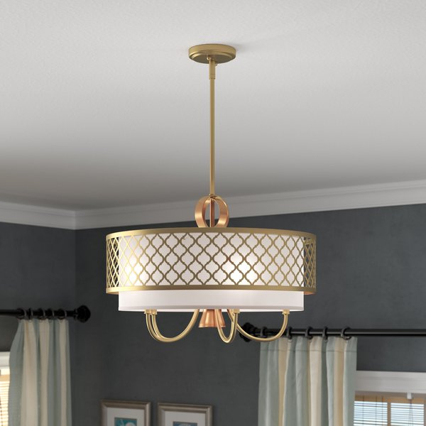 Famous Annuziata 3 Light Unique/statement Chandeliers Within Brushed Gold Chandelier (Gallery 27 of 30)