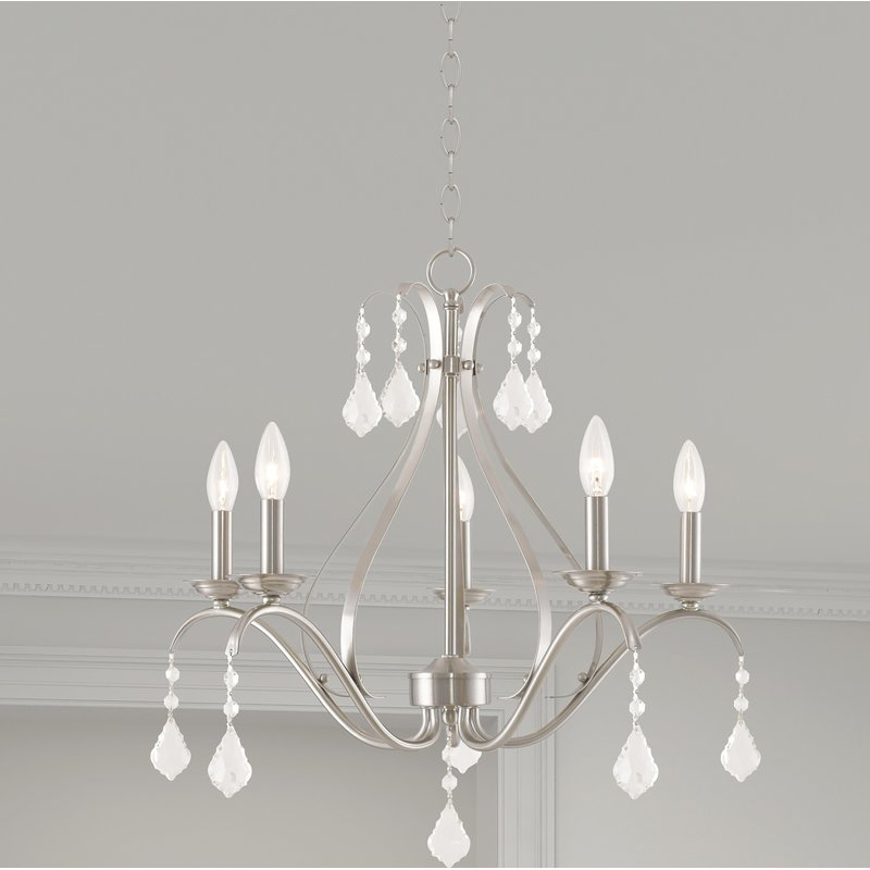 Famous Aria 5 Light Candle Style Chandelier Inside Hesse 5 Light Candle Style Chandeliers (Gallery 7 of 30)