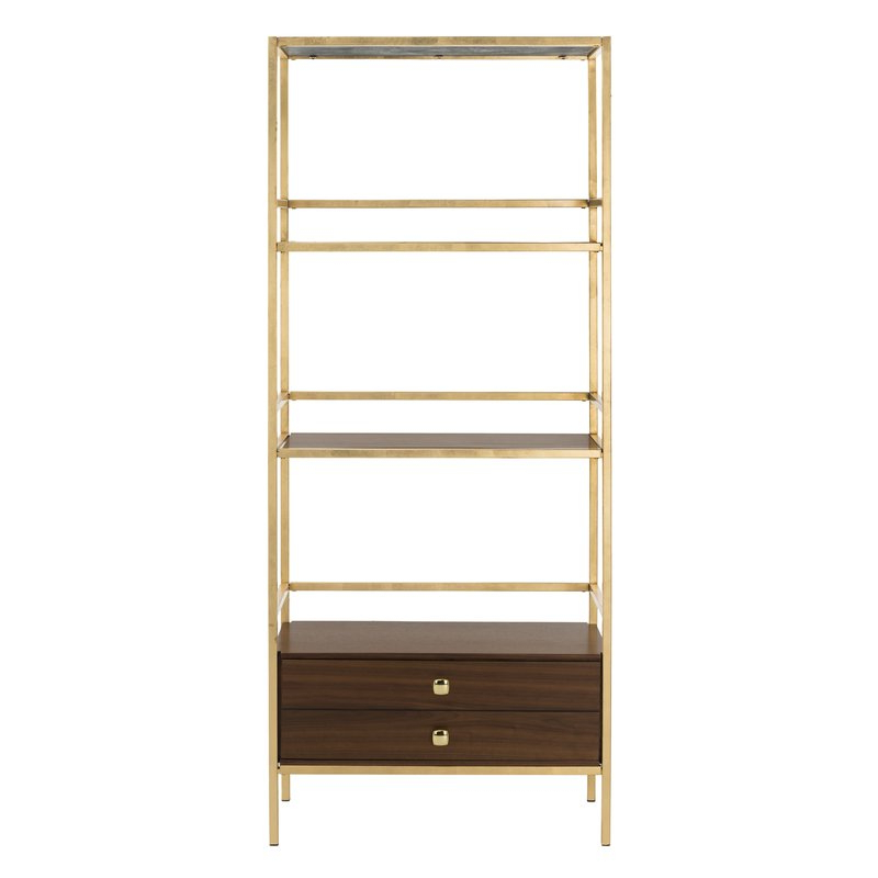 Famous Arrighetto 4 Tier Etagere Bookcase Intended For Rech 4 Tier Etagere Bookcases (View 15 of 20)