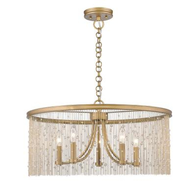 Famous Aurore 4 Light Crystal Chandeliers With Regard To Ore International Aurora 24.5 In (View 21 of 30)
