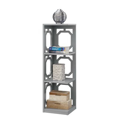 Famous Beachcrest Home Ardenvor Corner Bookcase Color: Gray Regarding Hattie Corner Bookcases (View 4 of 20)