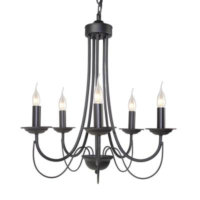 Famous Black – Candle Style – Chandeliers – Lighting – The Home Depot Within Shaylee 5 Light Candle Style Chandeliers (View 26 of 30)