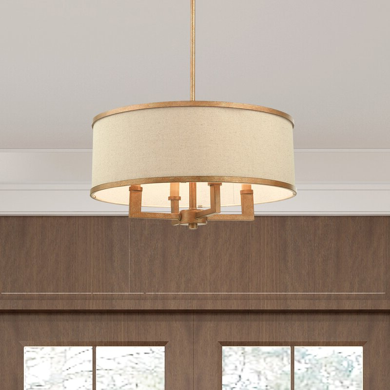 Famous Breithaup 7 Light Drum Chandeliers With Regard To Breithaup 4 Light Drum Chandelier (View 29 of 30)