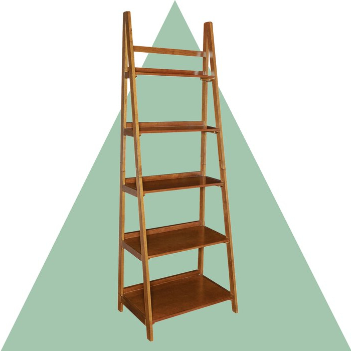 Famous Brock Ladder Bookcase Regarding Bordelon Slatted Ladder Bookcases (Gallery 9 of 20)