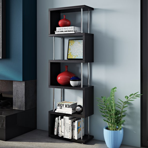 Famous Corner Bookcasemonarch Specialties Inc. Amazing With Regard To Vaccaro Geometric Bookcases (Gallery 17 of 20)