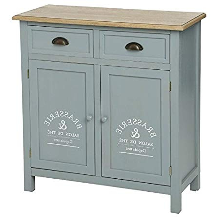 """Famous Damian Sideboards In Paris Price – Sideboard 2 Drawers""""damian 85 Cm Grey: Amazon (View 11 of 20)"""