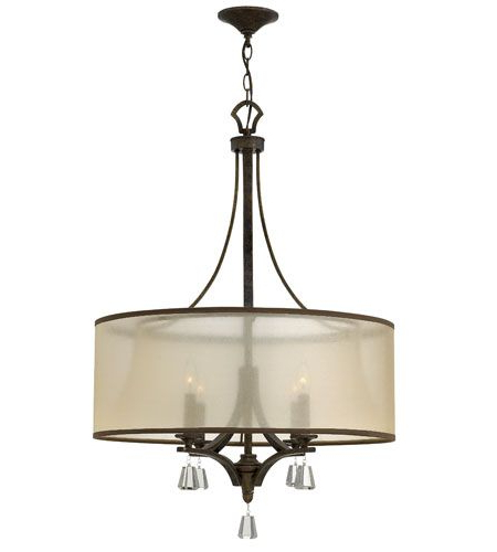Famous Dirksen 3 Light Single Cylinder Chandeliers In Fredrick Ramond Fr45604Fbz Mime 4 Light 25 Inch French Bron (View 15 of 30)